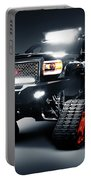 Gmc Pickup Truck On Snow Tracks Portable Battery Charger