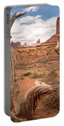 Gnarled Tree At Monument Valley  Portable Battery Charger