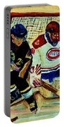 Goalie  And Hockey Art Portable Battery Charger