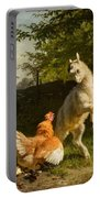 Goat Kid And A Hen Portable Battery Charger