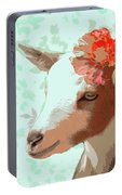 Goat With Flower Portable Battery Charger