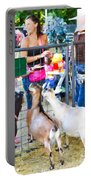 Goats At County Fair Portable Battery Charger