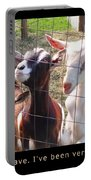 Goats Poster Portable Battery Charger