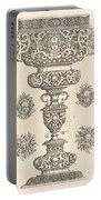 Goblet, Rim Decorated With Masque And Bouquet Of Fruit Portable Battery Charger