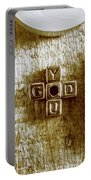 God Is You Metal Lettering Typography Near White Candles, Faith  Portable Battery Charger