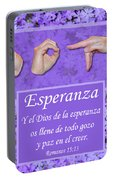 God Of Hope Spanish Portable Battery Charger