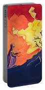 God Speaks To Moses From The Burning Bush Portable Battery Charger by Elizabeth Wang