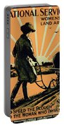 God Speed The Plough And The Woman Who Drives It Portable Battery Charger