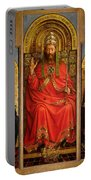 God The Father Portable Battery Charger by Hubert and Jan Van Eyck