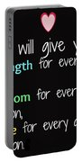 God Will Give You Strength T-shirt Portable Battery Charger