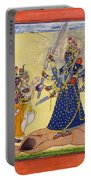 Goddess Bhadrakali Worshipped By The Gods. From A Tantric Devi Series Portable Battery Charger