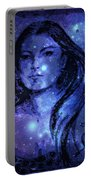 Goddess In Blue Portable Battery Charger