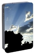 God's Rays At La Fenetre Portable Battery Charger
