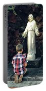 Going Before The Sacred Heart Of Jesus Portable Battery Charger