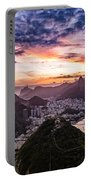 Going Up The Cable Car In Rio De Janeiro Portable Battery Charger