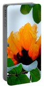 Gold African Tulips Portable Battery Charger