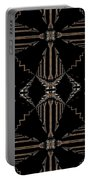 Gold And Black With Silver Design Abstract Portable Battery Charger