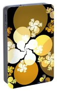 Gold Brown Spheres Portable Battery Charger