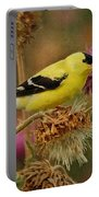 Goldfinch On Thistle Portable Battery Charger