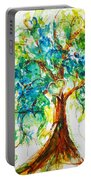 Gold Heart Valentine Tree Watercolor N Ink Portable Battery Charger
