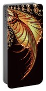 Gold Leaf Abstract Portable Battery Charger