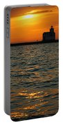 Gold On The Water Portable Battery Charger by Bill Pevlor