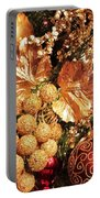 Gold Ornaments Holiday Card Portable Battery Charger