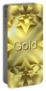 Gold Portable Battery Charger