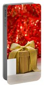 Gold Present With Place Card  Portable Battery Charger