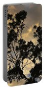 Gold Sunset Tree Silhouette I Portable Battery Charger