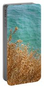 Gold Thistles And The Aegean Sea Portable Battery Charger