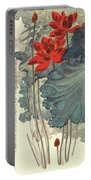 Gold Thread Lotus Portable Battery Charger