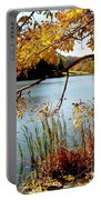 Golden Autumn Lake Portable Battery Charger