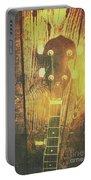 Golden Banjo Neck In Retro Folk Style Portable Battery Charger