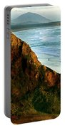 Golden Beach Cliff Side  Painterly Portable Battery Charger