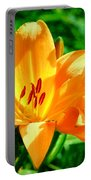 Golden Blossom Portable Battery Charger