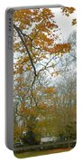 Golden Bus Stop Late Autumn Portable Battery Charger