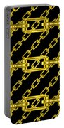 Golden Chains With Black Background Seamless Texture Portable Battery Charger