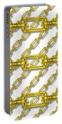 Golden Chains With White Background Seamless Texture Portable Battery Charger