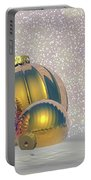 Golden Christmas Balls - 3d Render Portable Battery Charger