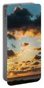 Golden Cloud Sunrise Delray Beach Florida Portable Battery Charger