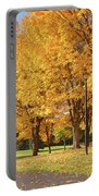 Golden Colors In Autumn Bellavista Park Oregon. Portable Battery Charger