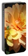 Golden Dahlia With Bud Portable Battery Charger