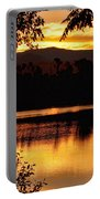 Golden Day At The Lake Portable Battery Charger