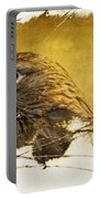 Golden Eagle Grunge Portrait Portable Battery Charger
