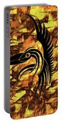 Golden Flight Contemporary Abstract Portable Battery Charger