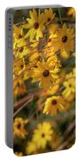 Golden Flowers Portable Battery Charger