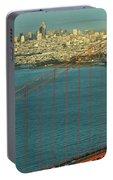 Golden Gate Bridge And San Francisco Skyline Portable Battery Charger