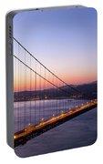 Golden Gate Bridge During Sunrise Portable Battery Charger