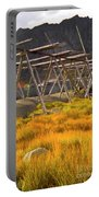 Golden Gras And Fish Drying Rack Portable Battery Charger by Heiko Koehrer-Wagner